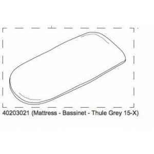 Mattress-Bassi-Thule Grey 15-x Thule 40203021