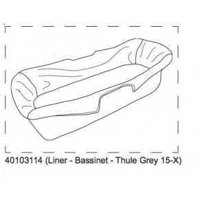 Liner-Bassinet-Thule Grey 15- Thule 40103114