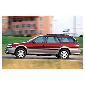 Příčníky Thule WingBar Black Subaru Outback 1997-2002 s podelníky