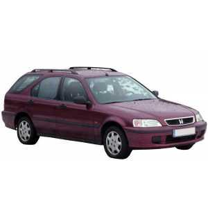 Příčníky Thule WingBar Black Honda Civic Combi 1997-2000 s podélníky