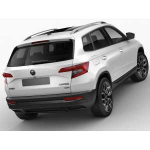 Příčníky Thule WingBar Black Škoda Karoq 2018- s podélníky