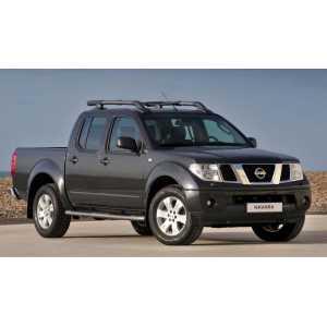 Příčníky Thule WingBar Edge Black Nissan Navara Double Cab 2005-2015 s podélníky