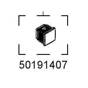 """Koncovka hranatá 1"""" 50191407"""