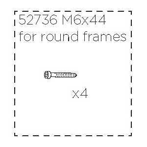 Šroub M6x44 Thule 52736 (4 ks)