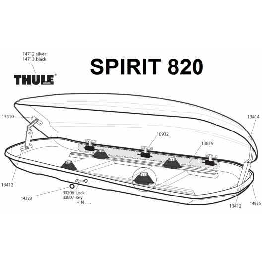 Thule 13819 zámková lišta